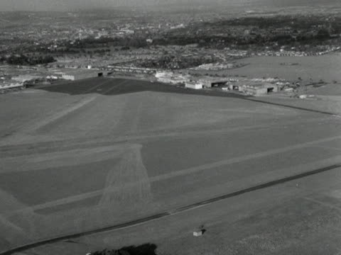 aerial shot over croydon airport - croydon england stock videos & royalty-free footage
