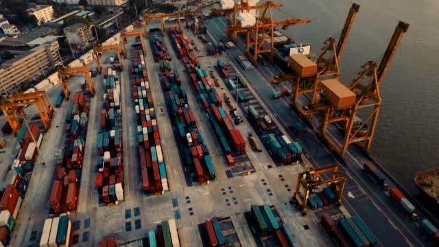 Luftaufnahme über Industrielle Hafen