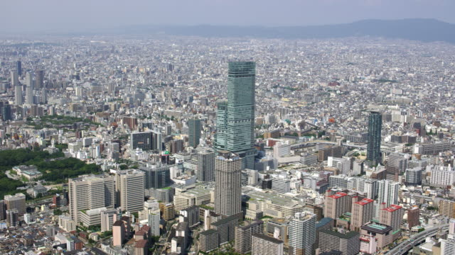 aerial shot over japan - osaka stock videos and b-roll footage