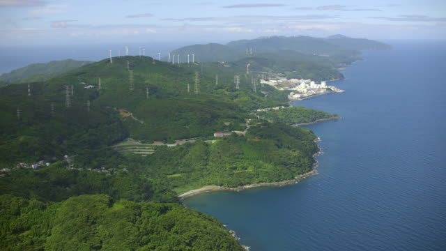 aerial shot over japan - peninsula stock videos and b-roll footage