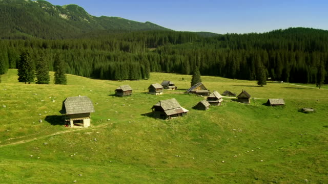 HD: Aerial Shot The Plateau Of Pokljuka
