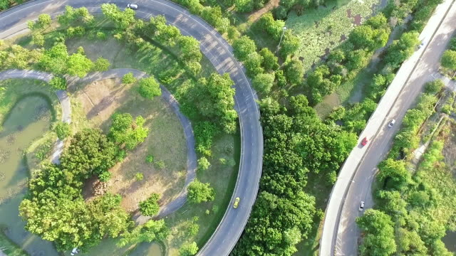 Luftaufnahme: anstrengenden freeway in Bangkok, Thailand