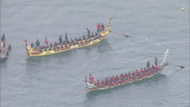 Aerial shot;Naha Haarii Dragon-Boat Races