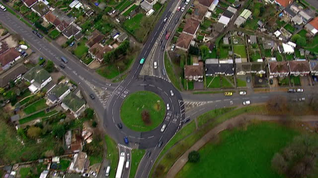 aerial shots following the a27 through west sussex towards chicester and porstmouth.>> on december 01, 2014 in various cities, united kingdom. - west sussex stock videos & royalty-free footage