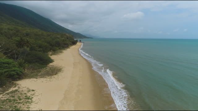 aerial shots for coastline and beaches from cairns to port douglas - tropical climate stock videos & royalty-free footage