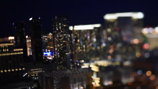 Aerial shots from a helicopter of the Las Vegas strip during sunset and at night with the lights lit up on August 6th 2015 Shots Aerial shots pull...