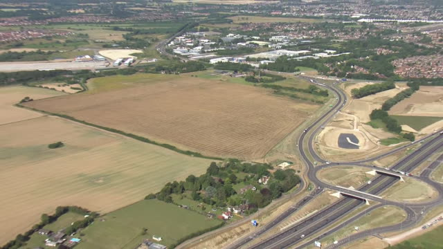 aerial shots of a large area of land next to the m20 motorway with surveyors mapping it earmarked to be a huge customsclearance lorry park after the... - map stock videos & royalty-free footage
