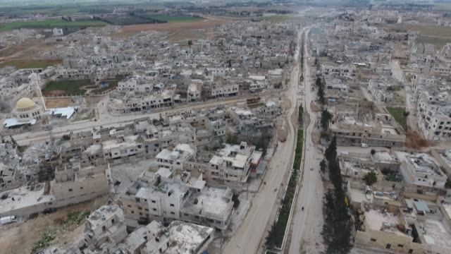 Aerial shots of AlBab town in Aleppo northern Syria on March 20 2017 AlBab was captured from Daesh by Turkeybacked Free Syrian Army on Feb 24 as part...