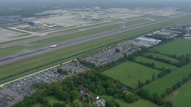 aerial shots of an easyjet plane taking off from the runway on september 2 2014 at gatwick airport united kingdom - markenname stock-videos und b-roll-filmmaterial