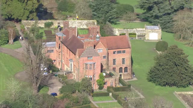 Aerial shots of Chartwell House on March 03 2016 in Westerham Kent England