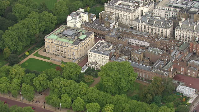 Aerial shots of Clarence House the official royal residence of The Prince of Wales The Duchess of Cornwall and Prince Harry ON October 17 2013 in...