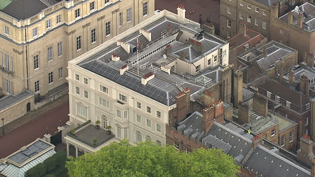 aerial shots of clarence house the official royal residence of the prince of wales the duchess of cornwall and prince harry on october 17 2013 in... - royalty stock videos & royalty-free footage
