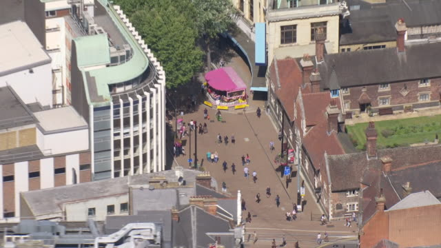 aerial shots of croydon centre on 23 august 2019 in london, united kingdom. - ロンドン クロイドン点の映像素材/bロール