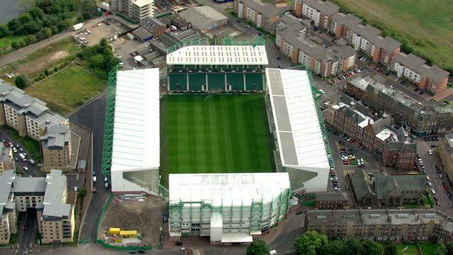 Aerial shots of Easter Road stadium home of Hibernian FC Easter Road Stadium Aerials on September 03 2010 in Edinburgh Scotland
