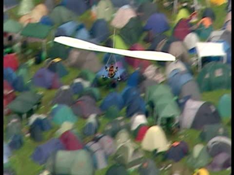 Aerial shots of Glastonbury music festival Glastonbury Music Festival Aerials on July 23 2007 in England