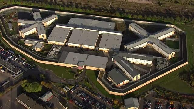 Aerial shots of HMP Peterborough on November 2 2016 in Peterborough England