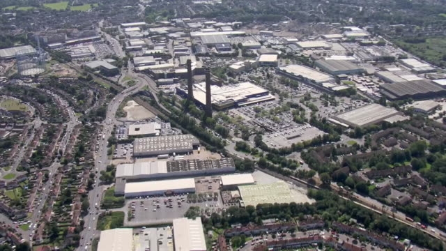 aerial shots of ikea croydon and other shops around on 23 august 2019 in london, united kingdom. - ロンドン クロイドン点の映像素材/bロール