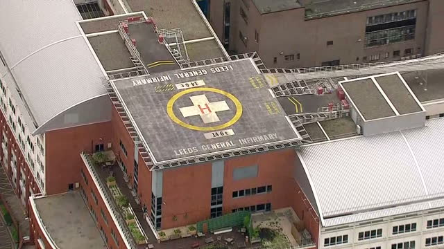 Aerial shots of Leeds General Infirmary hospital on June 16 2016 in Leeds England