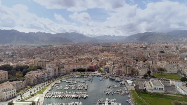 aerial shots of palermo in sicily - sicily stock videos & royalty-free footage