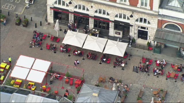 GBR: Aerial views of London pubs and parks as lockdown restrictions are eased