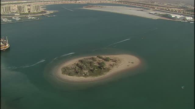 Aerial shots of Ras al Khaimah beach resorts Aerials of Ras al Khaimah on October 29 2009 in Ras al Khaimah United Arab Emirates