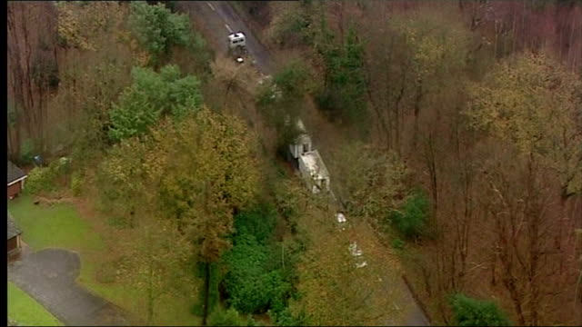 aerial shots of scene where anneli alderton's body was found clients please note - signal breakage in parts on december 11, 2006 in ipswich, england. - throttle stock videos & royalty-free footage
