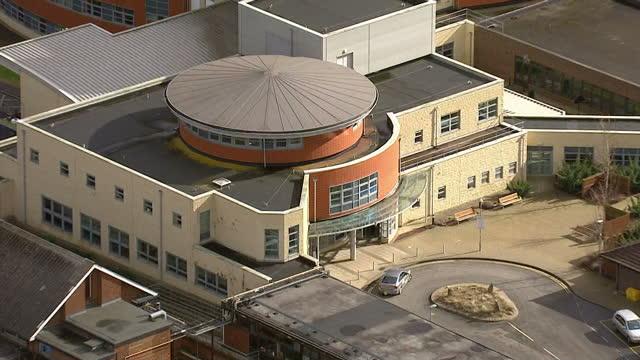 Aerial shots of Stoke Mandeville Hospital on February 26 2015 in Stoke Mandeville Aylesbury England