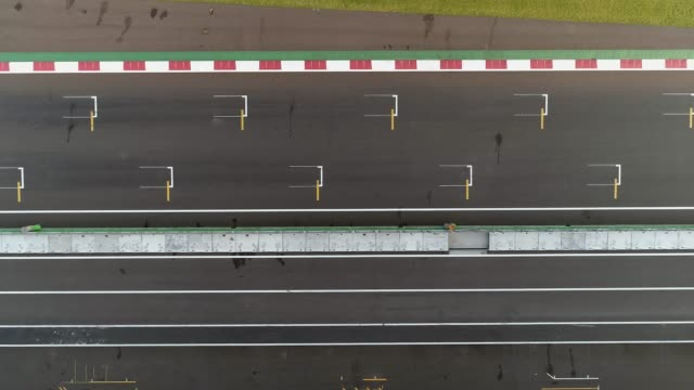 aerial shots of the autodromo in mexico city - sportstrecke stock-videos und b-roll-filmmaterial