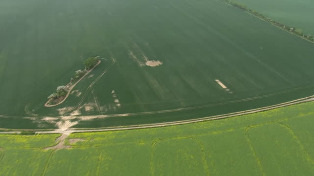 aerial shots of the coastline from st margaret's bay along beach at base of white cliffs and pan across various fields on the 22nd may 2020 in kent,... - rural scene stock videos & royalty-free footage