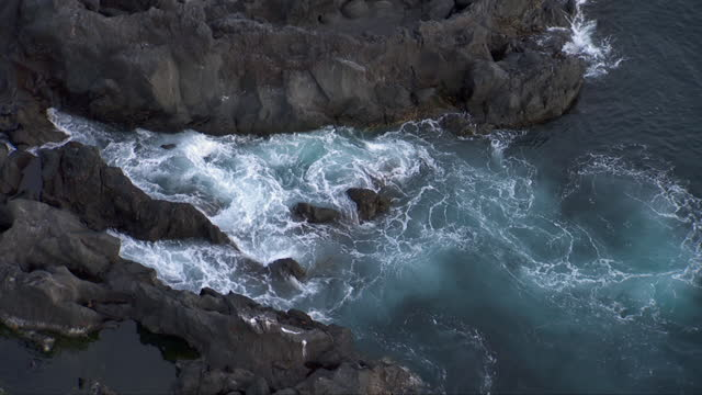 aerial shots of the galapagos islands - undersea video stock e b–roll