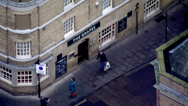 aerial shots of the grapes pub a location where missing corrie mckeague was known to visit before his disappearance on january 6 2017 in bury st... - bury st edmunds stock videos & royalty-free footage