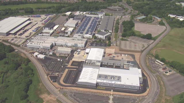 aerial shots of the jaguar land rover plant in coventry on 25 may 2020 in coventry, united kingdom - coventry stock videos & royalty-free footage
