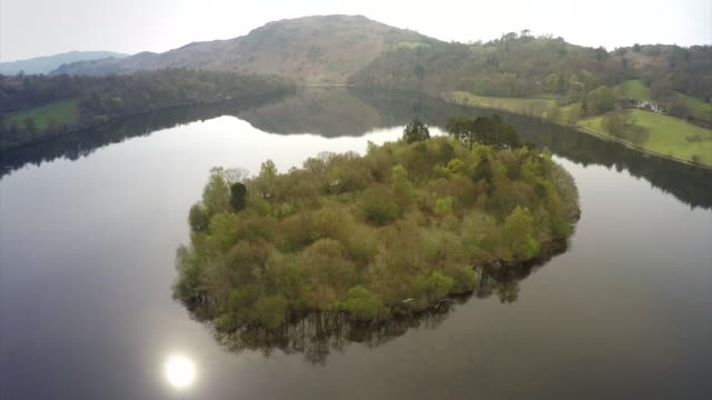 aerial shots of the lake district - see other clips from this shoot 659 stock-videos und b-roll-filmmaterial