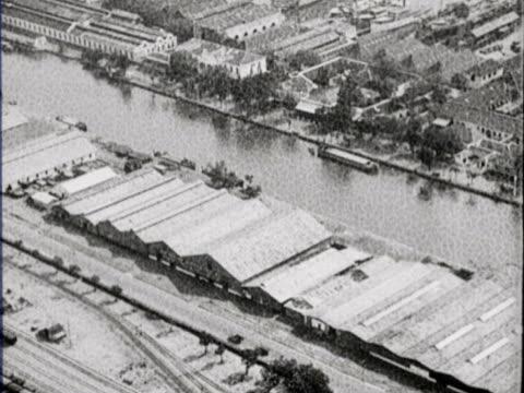 aerial shots of the port of surabaya - surabaya stock videos & royalty-free footage