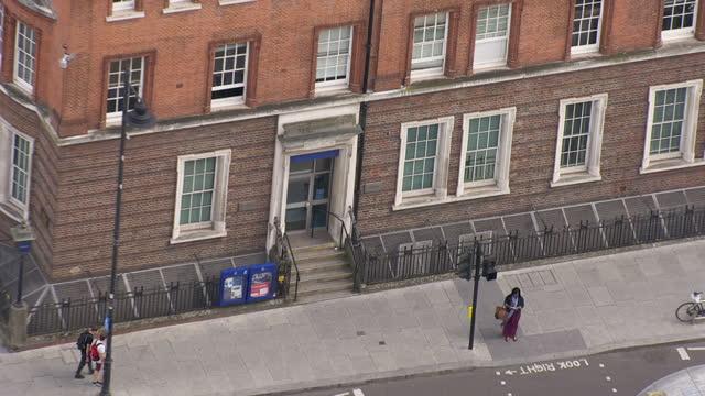 Aerial shots of Tottenham police station on May 15 2016 in Tottenham England