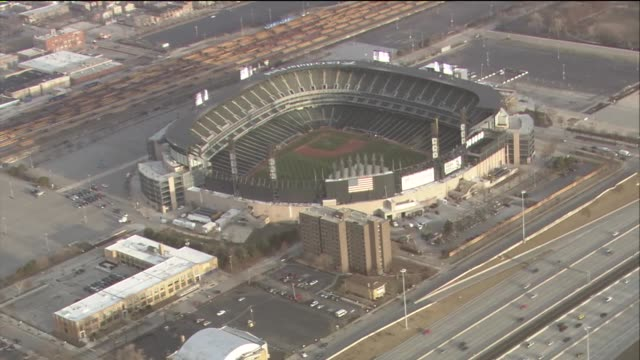 Aerial shots of US Cellular Field on March 31 2014 in Chicago Illinois