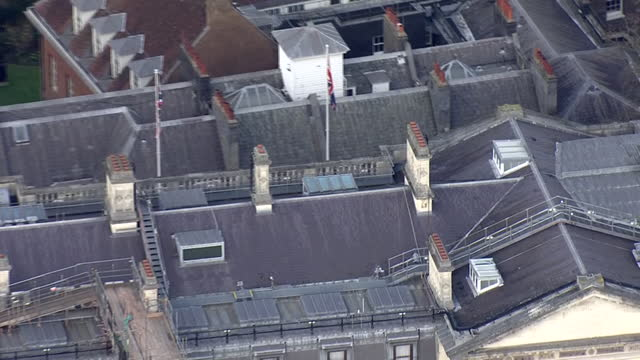 aerial shots of whitehall and number 10 downing street on 21st february 2021 in london, united kingdon. - aerial view stock videos & royalty-free footage