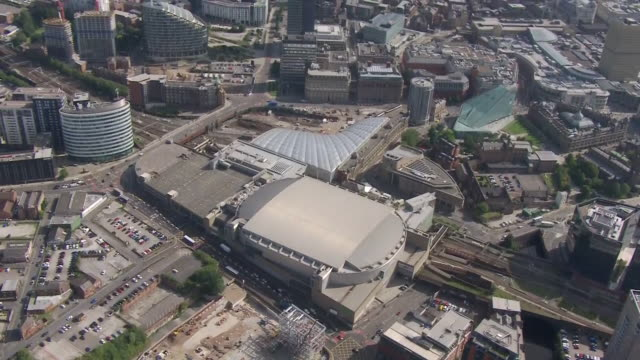aerial shots over manchester city centre and manchester arena on 17 september 2020 in manchester, united kingdom - manchester arena stock videos & royalty-free footage