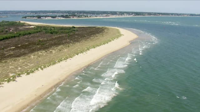 aerial shots shoreline - bournemouth england stock videos & royalty-free footage