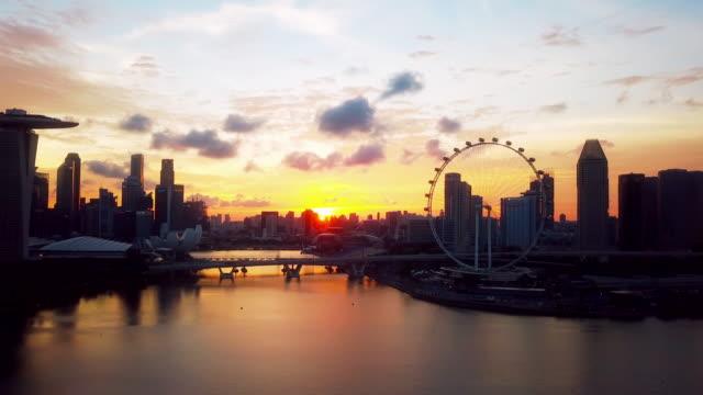 Aerial Skyline von Singapur Bucht