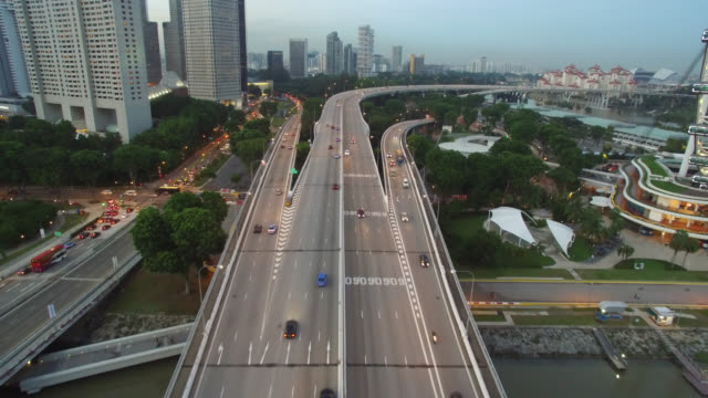 Aerial Singapore Highway