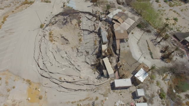 aerial/ sinkholes, dead sea, judea desert - israel stock videos & royalty-free footage