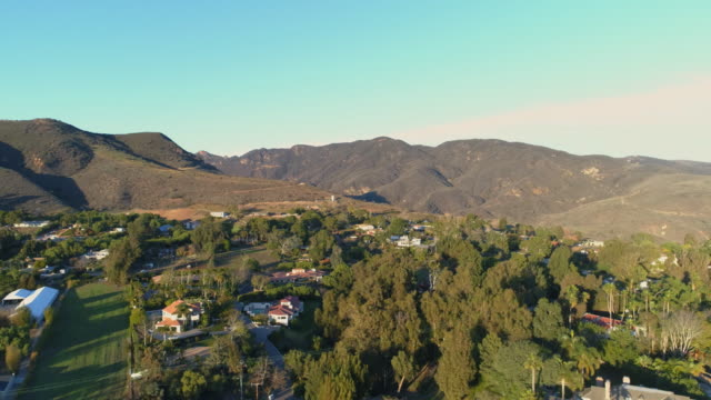 Aerial slow motion over Malibu California