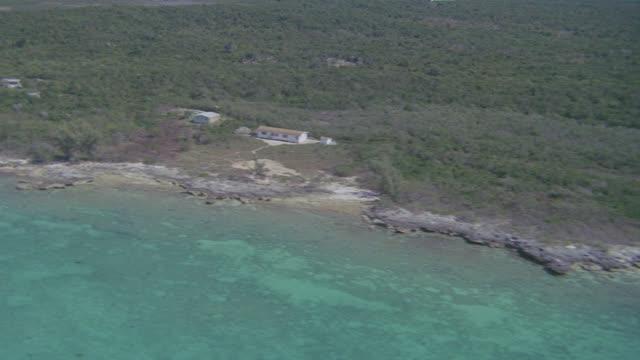 aerial small bahamas island - bahamas stock videos & royalty-free footage