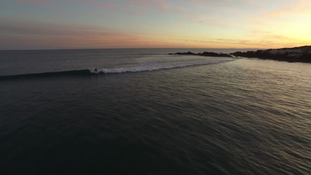 aerial soul surfer sunset baja 4k - baja california peninsula stock videos and b-roll footage