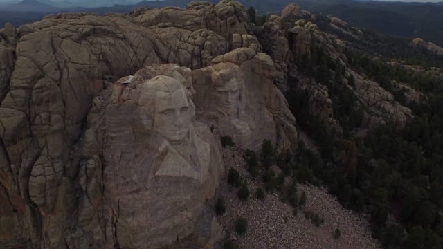 Aerial South Dakota Mt Rushmore