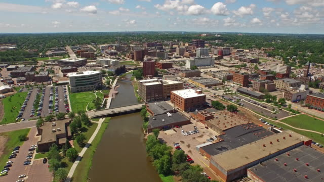 aerial south dakota sioux falls - south dakota stock videos & royalty-free footage