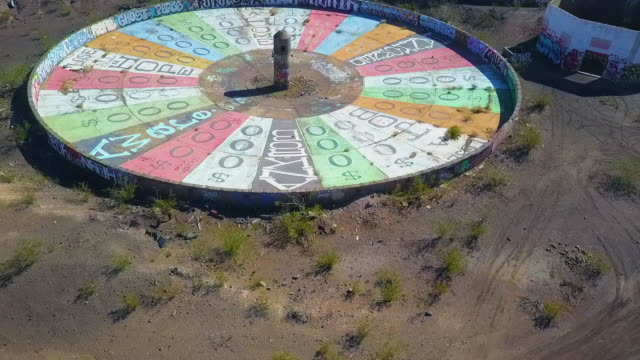 Aerial Spinning: Colorful Wheel of Misfortune