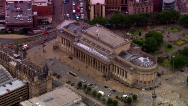 aerial st. george's hall/ liverpool, england - merseyside stock videos & royalty-free footage