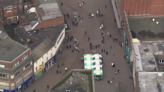 aerial stoke on trent - staffordshire england stock videos & royalty-free footage